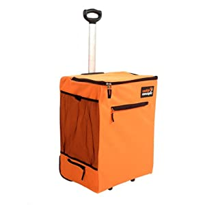 Caddy concepts 1035 orange portable laundry hamper with pop up handle orange - Laundry hamper wheels ...