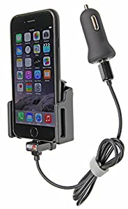 Brodit 521666 Adjustable Device Holder with Car USB Charger for Apple iPhone 6 with Apple Case by Brodit