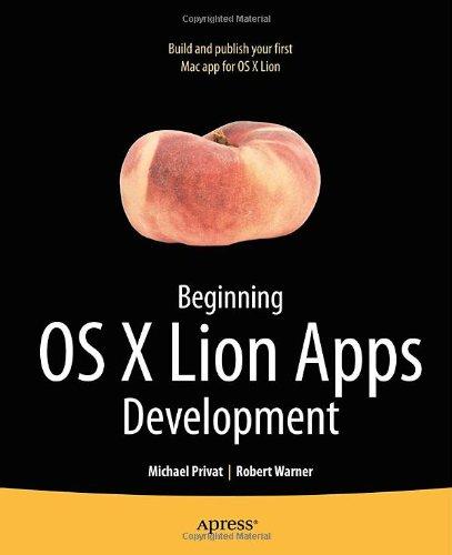 Beginning OS X Lion Apps Development