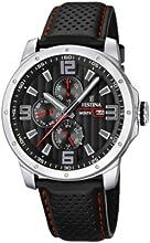 Comprar Festina Sport Multifunktion F16585/8 - Reloj analógico de cuarzo para hombre, correa de cuero color negro (agujas luminiscentes)