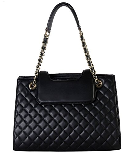 rimen-co-pu-leather-large-quilted-tote-accented-with-chain-handle-womens-purse-handbag-xx-3747