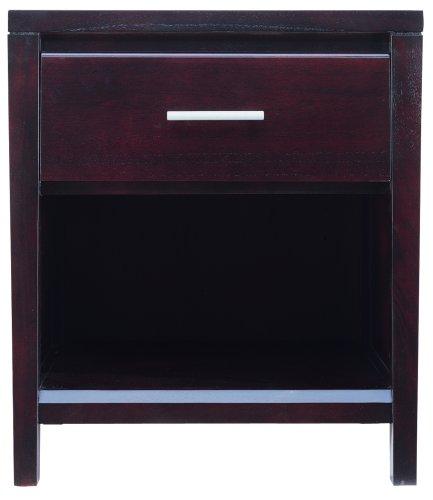 Modus Furniture Nevis 1 Drawer Nightstand, Espresso front-700186