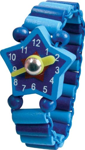 Wooden Children's Play Watch with movable hands (boys/unisex design) [Toy]