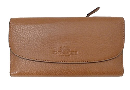 coach-52715-pebbled-leather-checkbook-wallet-saddle