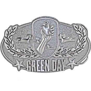 Officially Licensed GREEN DAY Logo Belt Buckle - Buy Officially Licensed GREEN DAY Logo Belt Buckle - Purchase Officially Licensed GREEN DAY Logo Belt Buckle (Body Candy, Body Candy Belts, Body Candy Womens Belts, Apparel, Departments, Accessories, Women's Accessories, Belts, Womens Belts)