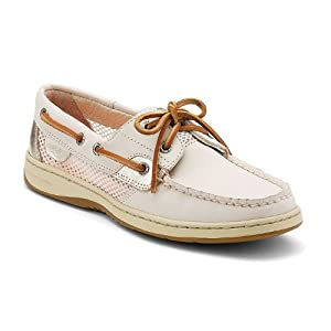 Sperry Top-Sider Women's Bluefish 2 Eye Boat Shoe (Ivory, 8.5)