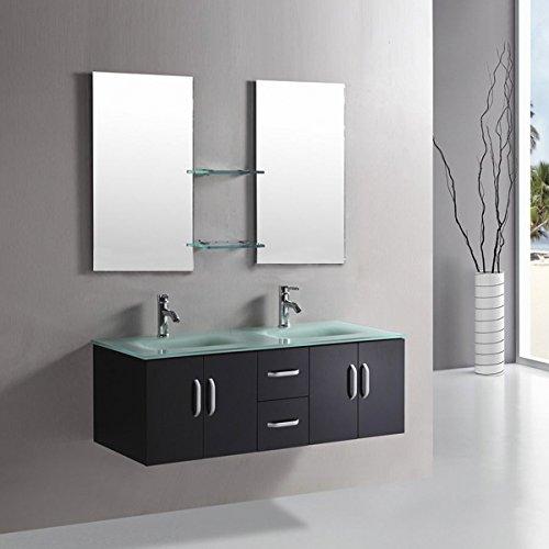 Mobile bagno ICE arredo bagno arredobagno 150 cm nero laccato mobile + lavandini + 2 specchi + 2 miscelatori completo moderno IL PIU VENDUTO …