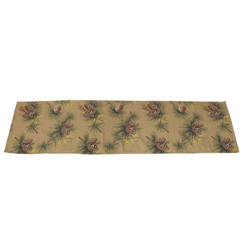 Hiend Accents Crestwood Pine Cone Bed Scarf, Queen front-313659