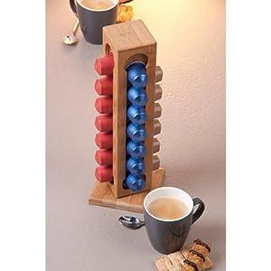 Nespresso coffee pod capsule holder rack wood car motorbike - Porte capsule nespresso mural ...
