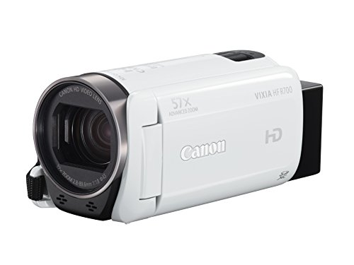 Canon VIXIA HF R700 Camcorder (White) (Top Rated Camcorders compare prices)