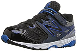 New Balance KA680 Infant Running Shoe (Infant/Toddler), Black/Grey, 2 W US Infant