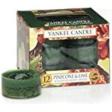 Yankee Candle Pinecone & Lime Tea Light Candles, Festive Scent By Yankee Yandle