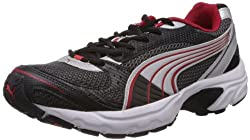 Puma Mens Exsis II Black Mesh Sport Running Shoes - 10UK/India (44.5EU)