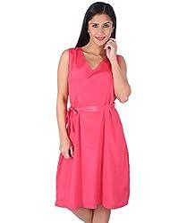 Ashtag Pink Silk Dress