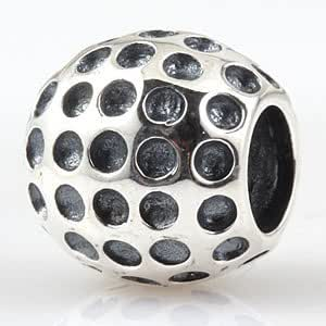 hoobeads golf bead 925 sterling silver