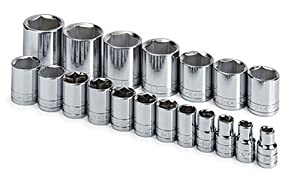 SK 4120 19 Piece 1/2-Inch Drive 6 Point 3/8-Inch to 1-1/2-Inch Socket Set