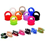 D&M Jewelry 32 Pcs Mixed Colorful Thin Silicone Acrylic 2g-3/4