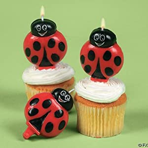 Click to buy Bright Ladybug Cake Topper Candles (1 dz)from Amazon!