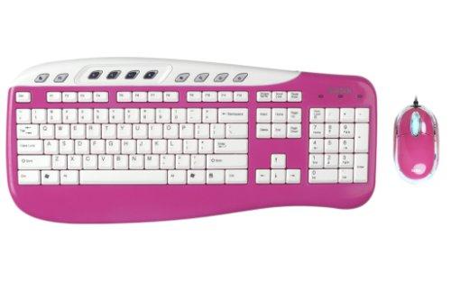 Saitek Keyboard & Mouse Pink