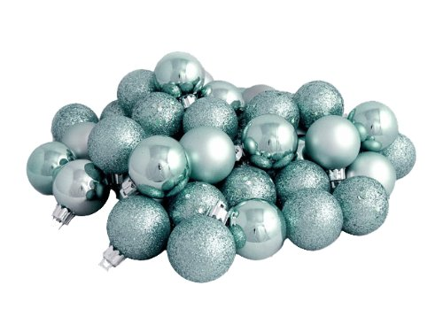 Vickerman 4-Finish Ball Ornament, 40mm, Seafoam Green