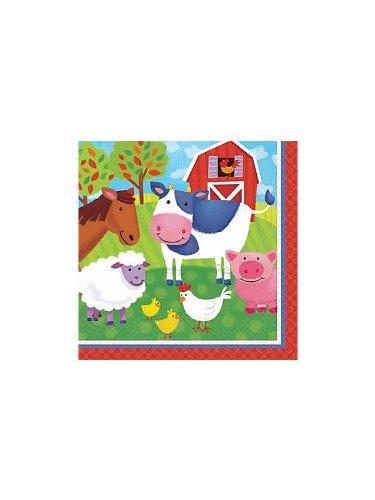 Barnyard Fun Luncheon Napkins Paper (16 per package) - 1