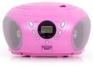 denver tcu 204 pink radio cd player mit mp3 wiedergabe und. Black Bedroom Furniture Sets. Home Design Ideas