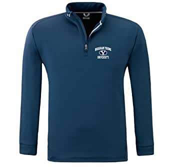 NCAA Men's Brigham Young Cougars Armour Fleece 1/4 Zip Hoody By Under Armour (Navy, Small)