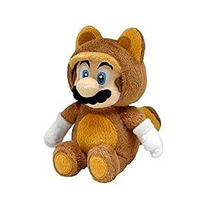 "Sanei Super Mario Raccoon Tanooki 8"" Mario Plush Doll"