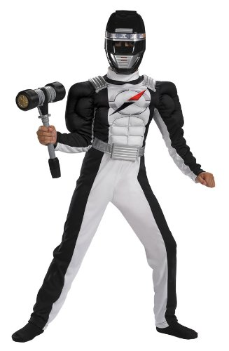 Black Ranger Costume with Muscle Chest