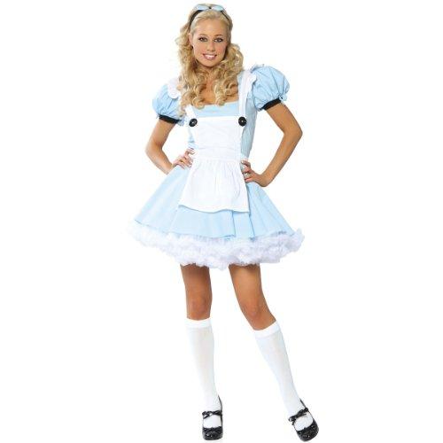 Alice in Wonderland Costume - Small/Medium - Dress Size 2-6 (Ladies Alice In Wonderland Costume)