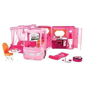 Barbie - P3599 - Accessoire Poupée - Camping Car Rose Barbie