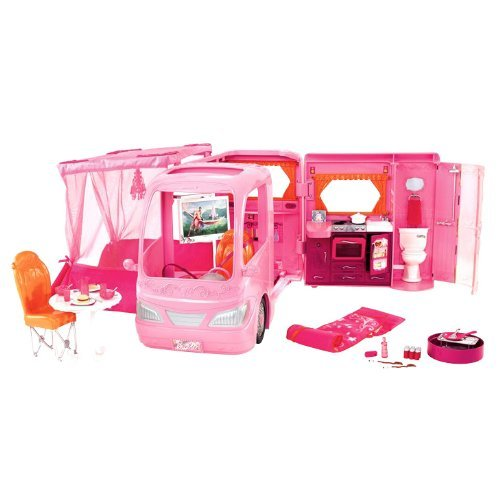 41SCcryZDdL Reviews Barbie Pink Glamour Camper