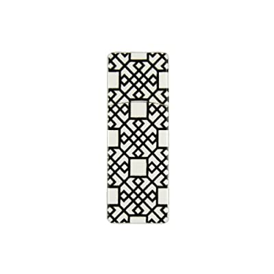 EMTEC Fashion Swivel 8 GB USB 2.0 Flash Drive, Black Geometric