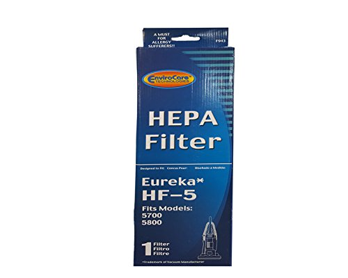 (1) Eureka Sanitaire 61830 HF5 HEPA Vacuum Filter for Boss, Genesis, Signature, Litespeed, Refurb Powerline, Whirlwind Upright Vacuum Cleaners, 61830, 61830A, 61840 Series #F943 (Eureka Filter Hf5 compare prices)