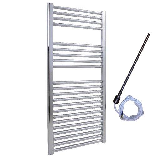 400 x 1200 mm radiateur s che serviettes lectrique plat chrom pr remplie ip67 25mm tubes. Black Bedroom Furniture Sets. Home Design Ideas
