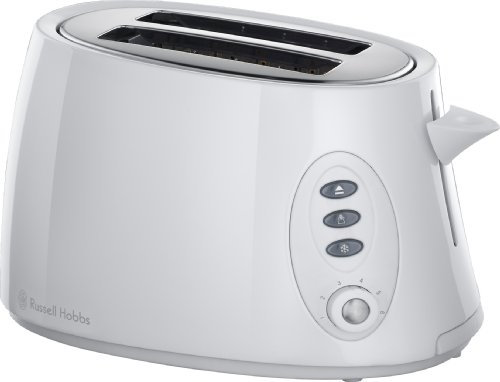 Russell Hobbs 18025 2-Slice Stylis Compact Toaster in White by Russell Hobbs