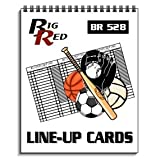 Big Red Line Up Cards Use for any Sport