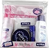 Nivea For Women Travel Pack (Suitable For Hand Luggage) (35ml Deodorant, Shower Cream, Lip Care, Cleansing Wipes & Creme)
