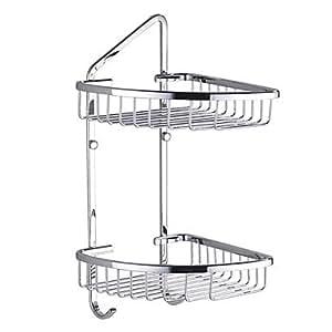 brass double pont triangle panier de rangement avec. Black Bedroom Furniture Sets. Home Design Ideas