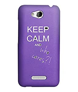 KolorEdge Back Cover For HTC Desire 616 - Purple (2881-Ke15109HTC616Purple3D)