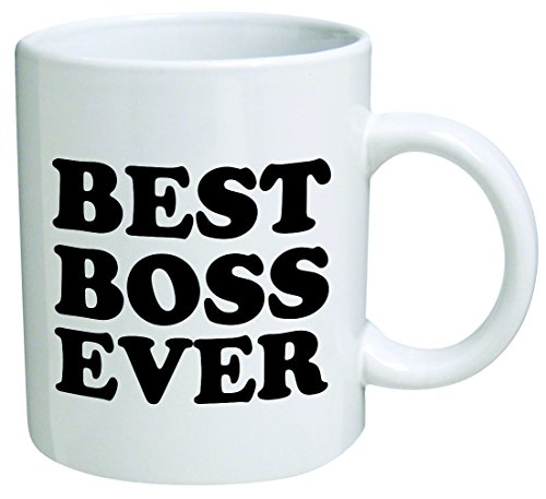 Best boss ever 11 oz coffee mug funny inspirational for Best coffee cup ever