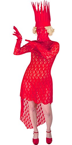 Teen Lady Glamour Red Lace Costume