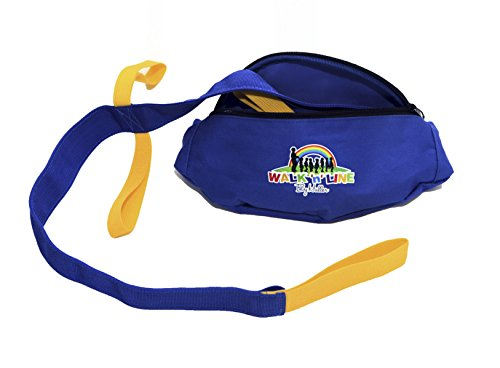 Walk ''n'' Line (Short )Toddler Walking Rope /Leash With Shoulder / Waist Carry Belt Bag - Suitable For 6 Children (Brand New World Walking Rope compare prices)