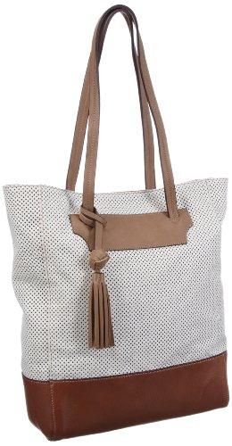 Clarks Moldova Beach 20354605 - Bolso de mano de cuero para mujer, color blanco, talla 37x32x12 cm