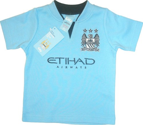 Brecrest Babywear Manchester City Football Club Core Short Sleeve T-Shirt (Blue, 6 - 9 Months)