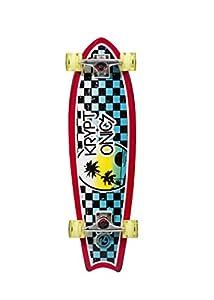 Kryptonics '65 Fishtail Cruiser Complete Skateboard, 32 x 7.5-Inch, Classic 65