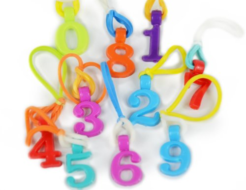 Goloops Numbers Assortment Charms for Rainbow Loom Bracelets- (9 Charms) - 1