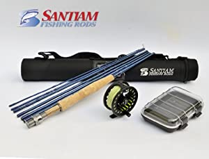 Santiam Fishing Rods: Travel Fly Rod Reel Complete Outfit--7pc. 9