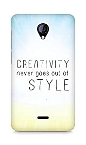 AMEZ creativity never goes out of style Back Cover For Micromax Unite 2 A106