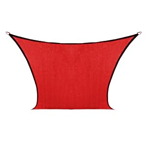 Coolaroo Custom Square Shade Sail, Cherry Red, 9 by 9-Feet at Sears.com